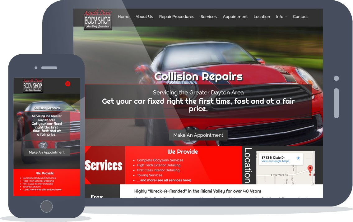 north dixie body shop responsive